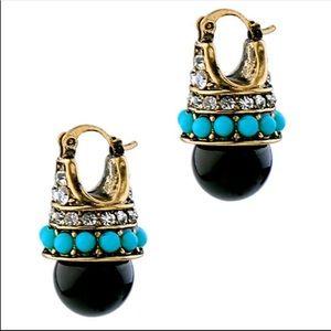 Zara Resin Drop Pavé Earrings